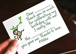hobo writing thank you notes with babies and toddlers a top