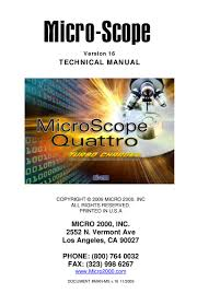 user manual for microscope pc hardware diagnostics