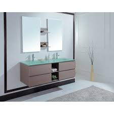 Frosted Glass Bathroom Cabinet by Marvelous Bathroom Vanity Double Sink Set Using Integrated Basin