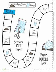 rock paper scissors a board game worksheet education com