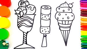 learn colors for children with coloring pages ice cream how to