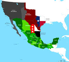 Mexico Political Map by Territorial Evolution Of Mexico Wikipedia
