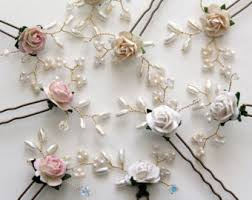 flower hair pins wedding hair pins etsy ie