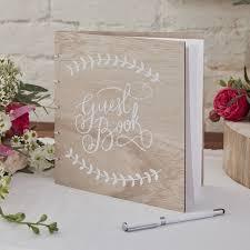 guest book wooden guest book boho