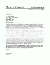 sample cover letter finance internship cover letter for an