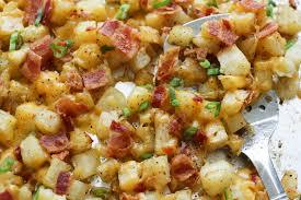 crispy cheese bacon potatoes