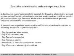 sample executive administrative assistant cover administrative