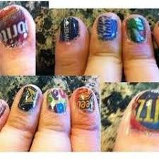 newspaper nails a magazine newspaper nail nail painting on