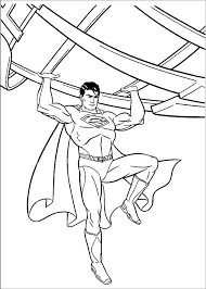 superman daily planet coloring boys pages