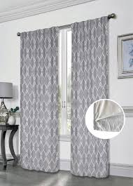Blackout Curtains Gray Dainty Home Innovative Geometric Blackout Thermal Rod