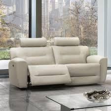 Grey Leather Reclining Sofa by Grey Leather Sofa Recliner Wayfair