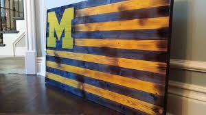 Michigan Flags Rustic U Of M Flag