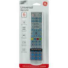 ge universal remote control 6 devices brushed silver walmart com