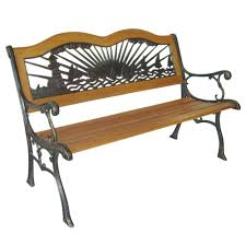 bench cast iron park bench parkland heritage rose resin back patio