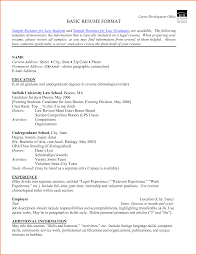 Resumes Templates Free Basic Samples Of Simple Resumes Simple Resume Sample Doc Simple Resumes