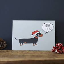 dachshund sausage dog christmas card by sweet william designs