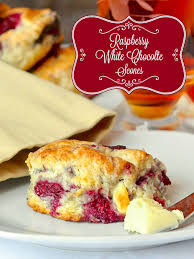 Black Amp White Chocolate Covered Raspberry White Chocolate Scones Rock Recipes