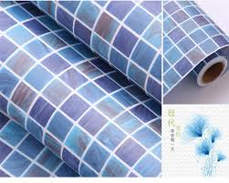 self adhesive wallpaper blue 0 45m 1m blue self adhesive wallpaper pvc stickers kitchen
