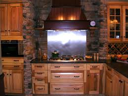 kitchen backsplash faux stone panels stone face thin stone