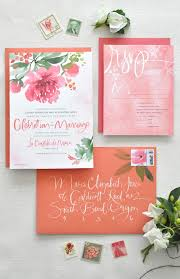 watercolor calligraphy wedding invitations by julie song ink