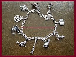 charm bracelet silver charms images Pagan charm bracelet 10 charms 3 bracelet lengths witchy charm jpg