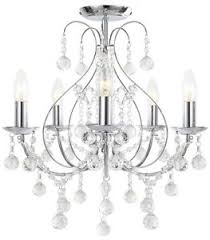Bhs Chandelier Lighting Luxury Chrome 5 Light Ceiling Chandelier Light Lounge