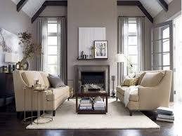 adorable living room with vaulted ceiling and gray color scheme
