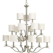 Brushed Nickel Chandeliers Pp465009 Inspire Large Foyer Chandelier Chandelier Brushed