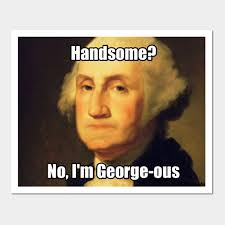 Funny Meme Posters - funny george washington george ous pun meme funny george