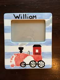 train footprint frame handprint ideas pinterest footprints