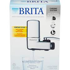 brita chrome on tap faucet water filter system fits standard