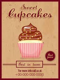 Designs Of Menu Card Vintage Menu Card Design Of Delicious Cupcakes For Sweet Shop