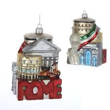 kurt adler 5 inch glass rome cityscape ornament home