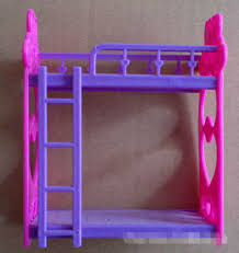 Plastic Bunk Beds High Quality Fashion Dolls Accessories Picture Bed Bunk