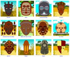 african masks for kids templates african tribal mask template