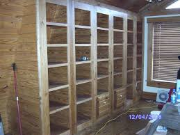 custom built in bookcases with two file cabinets by short mtn wood
