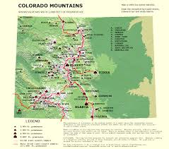 Rifle Colorado Map by Colorado U0027s Most Prominent Peaks Climbing Hiking