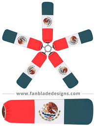 Mexixan Flag Fan Blade Designs Mexico Flag U2013 Fan Blade Designs