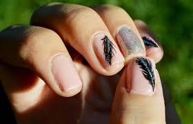 nudeblackandgoldfreehandnailartoveracrylicnails nails eye candy