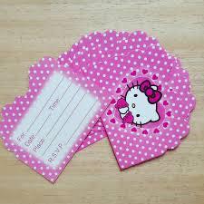 10pc lot cartoon hello kitty invitation card children u0027s birthday