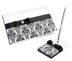 black guest book guest book pen sets