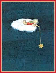 caspari cards caspari angel lying on cloud boxed christmas cards
