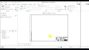 how to create drawing template in creo youtube
