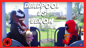 little heroes kid deadpool vs venom superheroes in real life