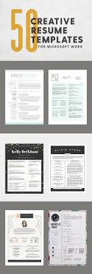 artistic resume templates 50 creative resume templates you won t believe are microsoft word