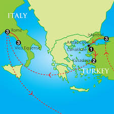 Italy On Map The Classical World Turkey Rome U0026 Pompeii