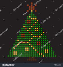 new years tree pixel art vector stock vector 117276964 shutterstock
