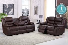 2 Seater Reclining Leather Sofa 2 3 Seater Reclining Leather Sofa 2 Colours