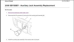honda odyssey 2005 aux input broken aux input assembly