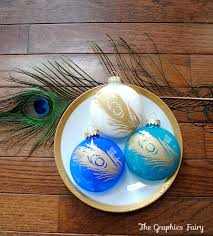 easy ideas painted peacock ornaments the graphics